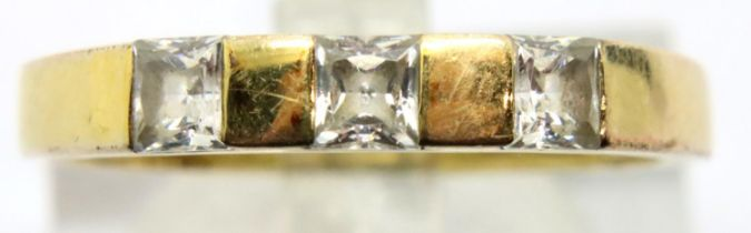 9ct gold stone set ring, size N/O, 1.9g. P&P Group 1 (£14+VAT for the first lot and £1+VAT for