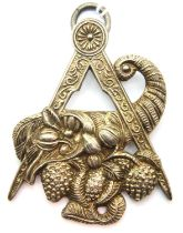 Large white metal Masonic jewel for New Camberwell Lodge with 1963 dedication. P&P Group 1 (£14+