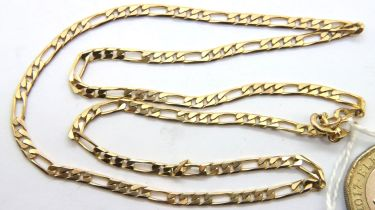 9ct gold link chain, L: 40 cm, 6.8g. P&P Group 1 (£14+VAT for the first lot and £1+VAT for