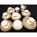Edwardian tea set in the Bute pattern. Not available for in-house P&P, contact Paul O'Hea at