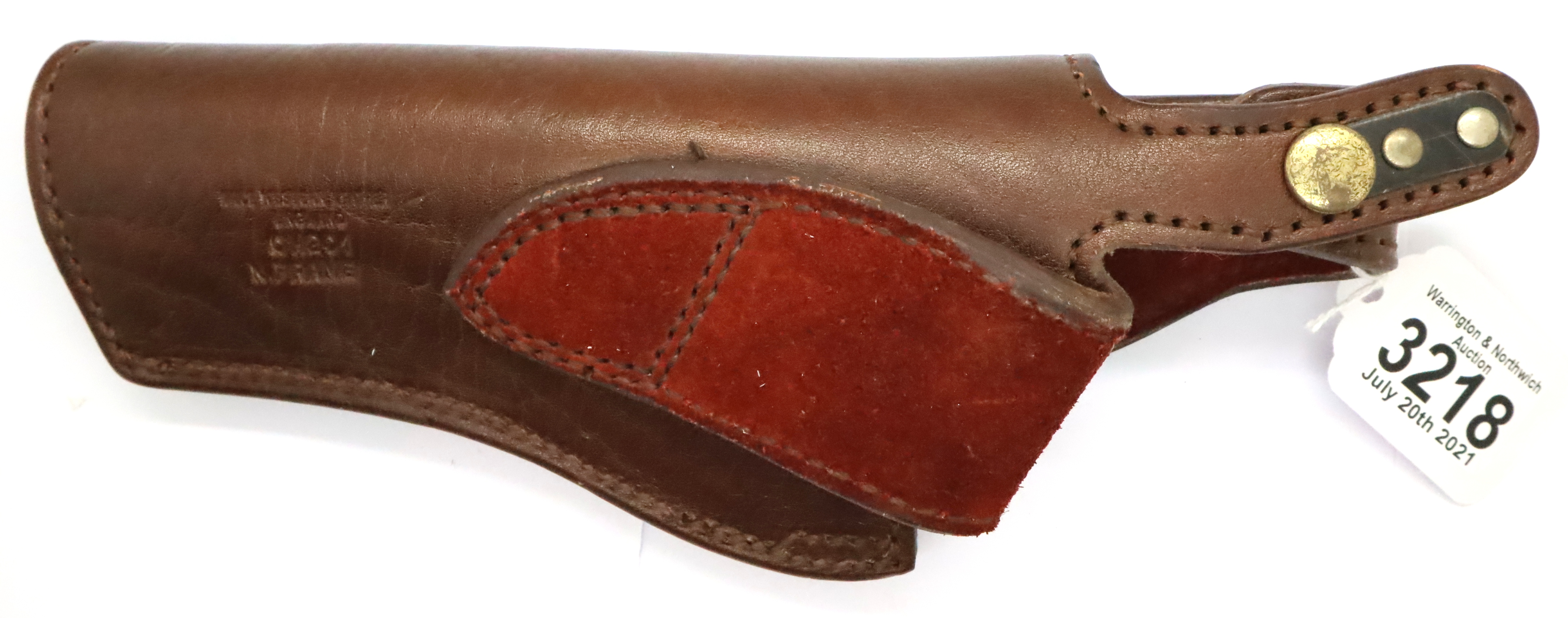 Good quality Price Western leather N frame holster. P&P Group 1 (£14+VAT for the first lot and £1+