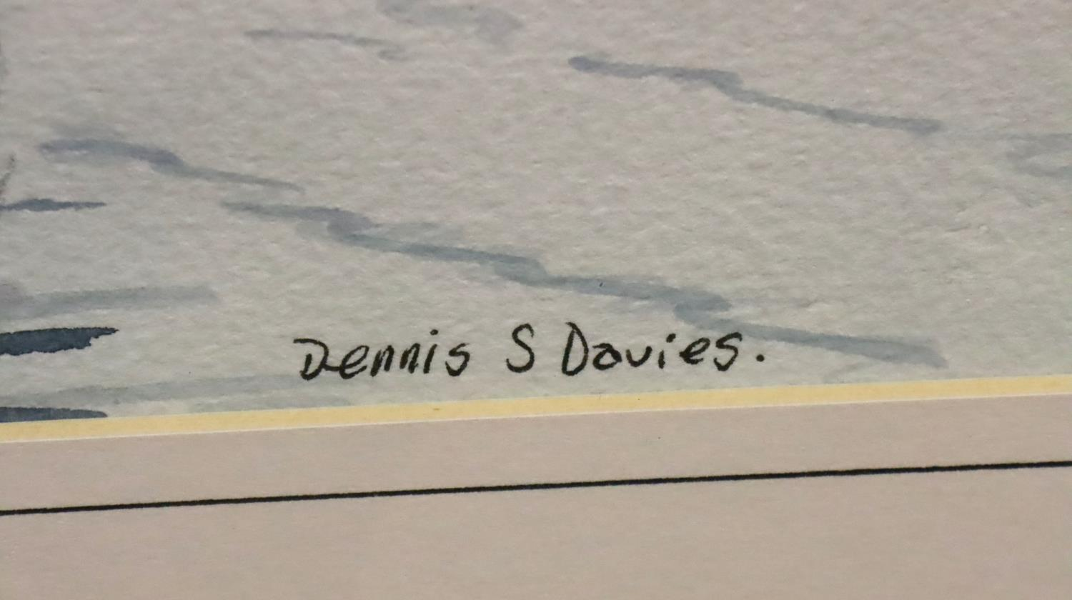 Pair of framed Dennis S. Davies with watercolours of Venice. Not available for in-house P&P, contact - Image 5 of 5