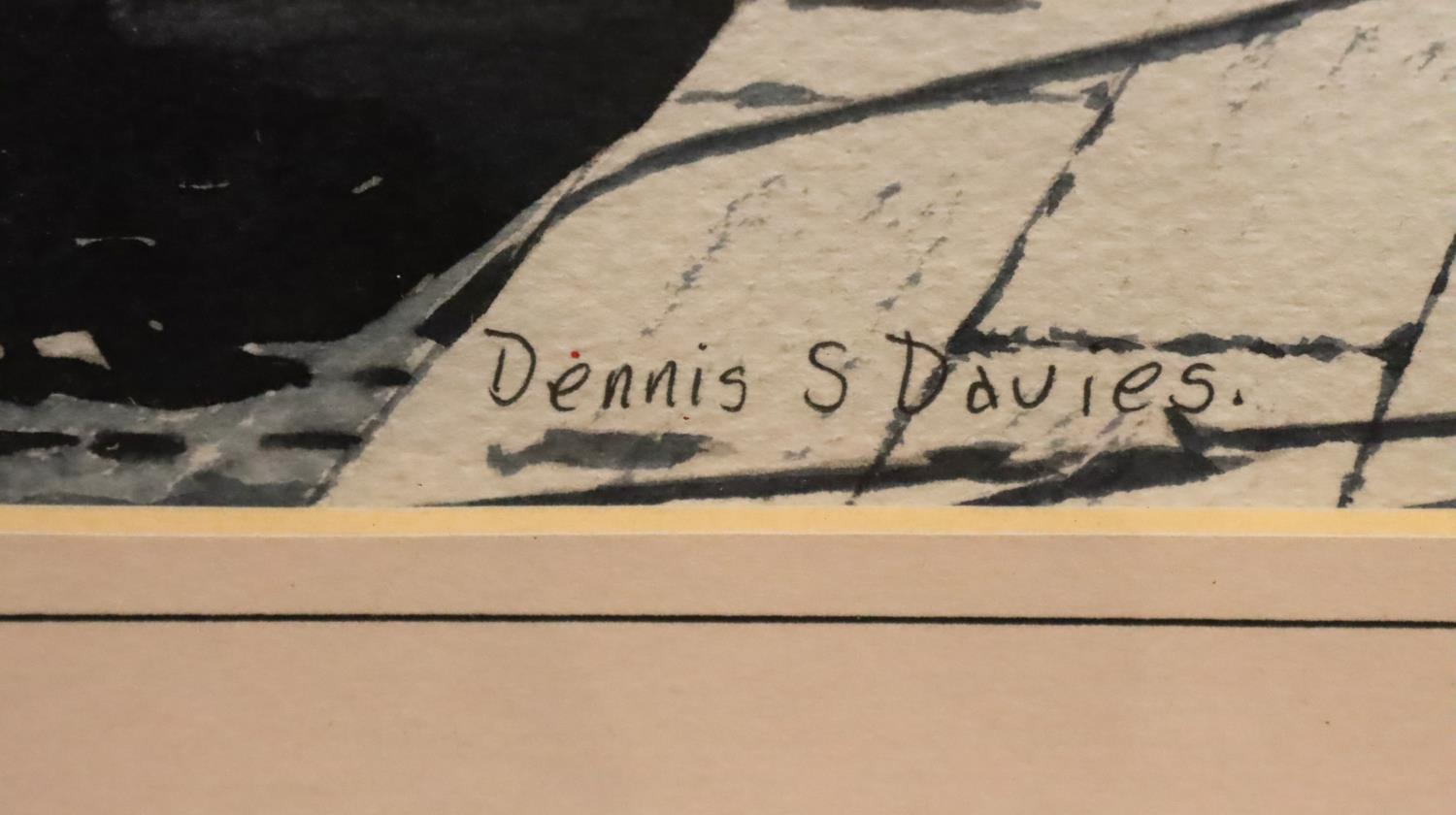 Pair of framed Dennis S. Davies with watercolours of Venice. Not available for in-house P&P, contact - Image 3 of 5