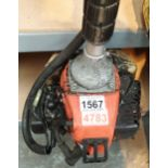 Petrol garden strimmer. Not available for in-house P&P, contact Paul O'Hea at Mailboxes on 01925