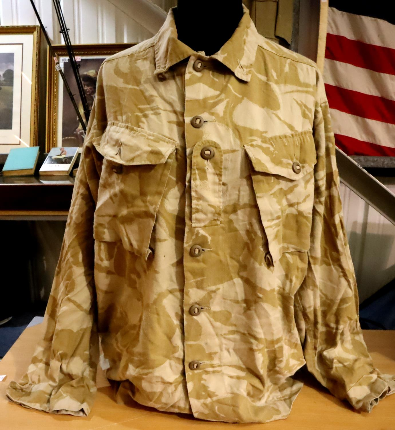 Fifty desert camouflage British Grade 1 shirts. P&P Group 3 (£25+VAT for the first lot and £5+VAT