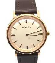Povey; gents new old stock calendar wristwatch. working at lotting up. P&P Group 1 (£14+VAT for