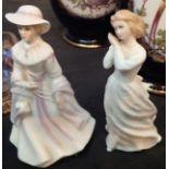 Royal Doulton figurine Sweet Dreams HN 3394 and Francesca fine bone china figurine Ailie, signed M