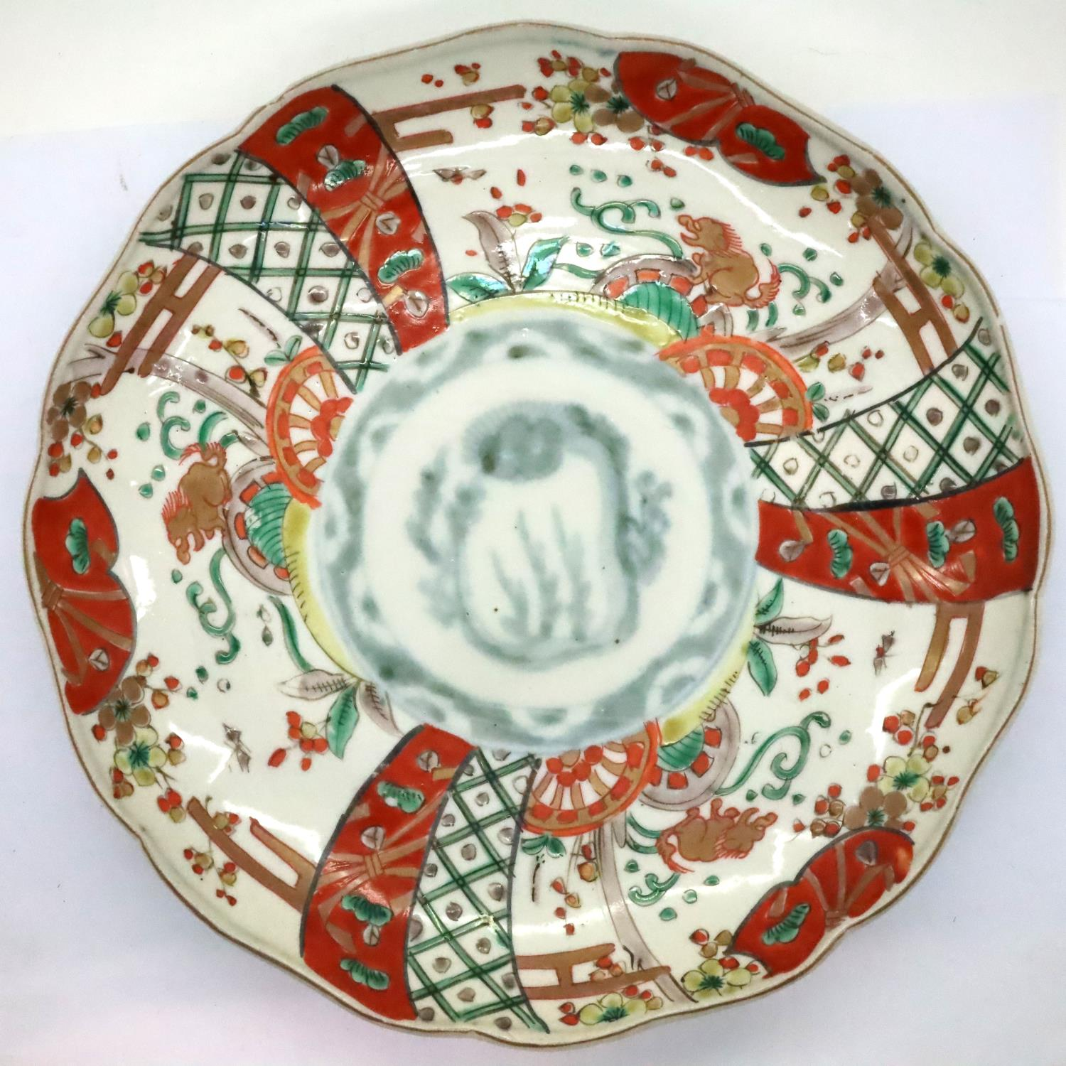 Japanese 19th century cabinet plate, D: 21 cm. P&P Group 2 (£18+VAT for the first lot and £3+VAT for