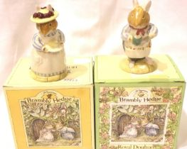 Royal Doulton Mr & Mrs Apple Brambly Hedge. P&P Group 2 (£18+VAT for the first lot and £3+VAT for