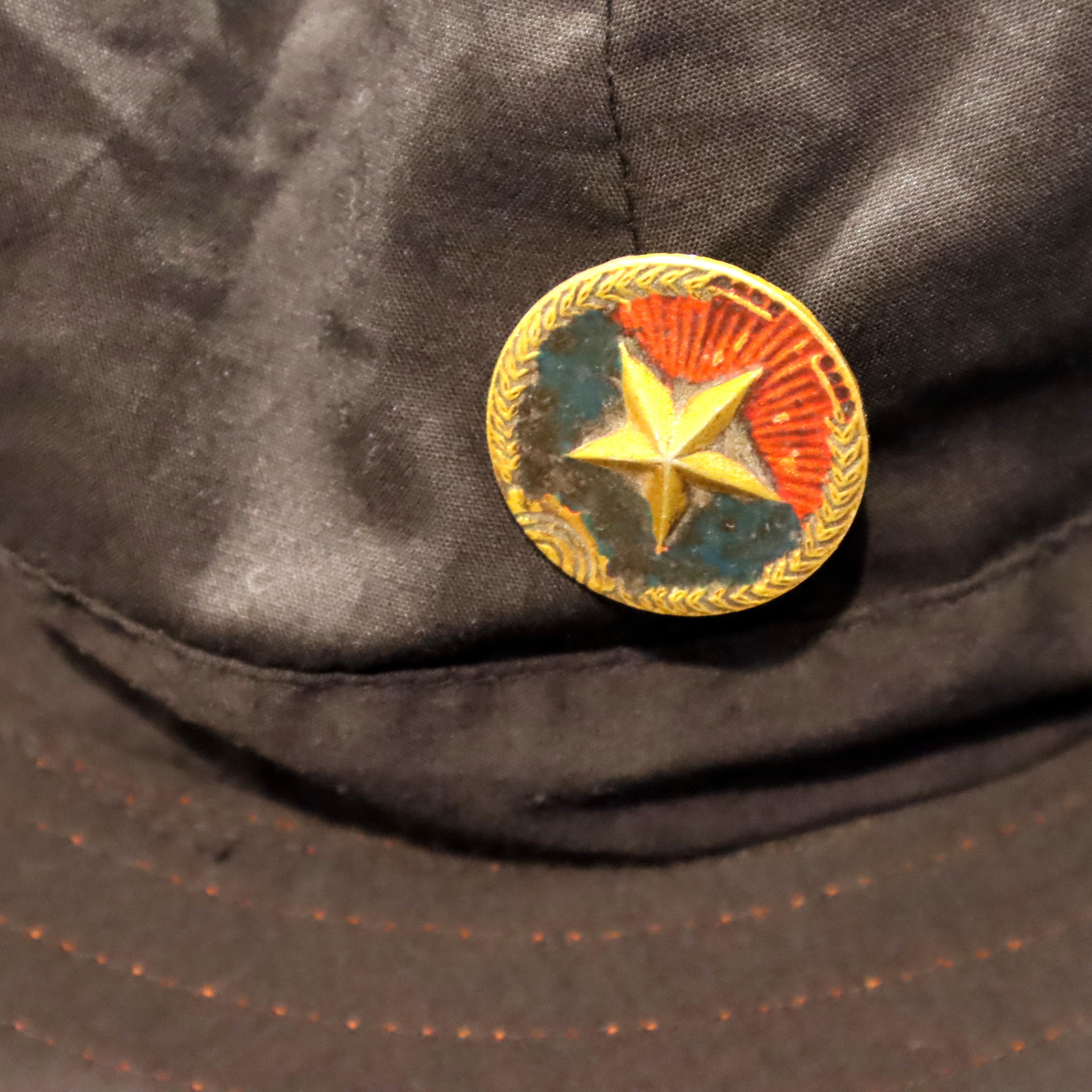Re-enactors Vietcong Fighting suit with original hat badge and water bottle. P&P Group 3 (£25+VAT - Image 2 of 2