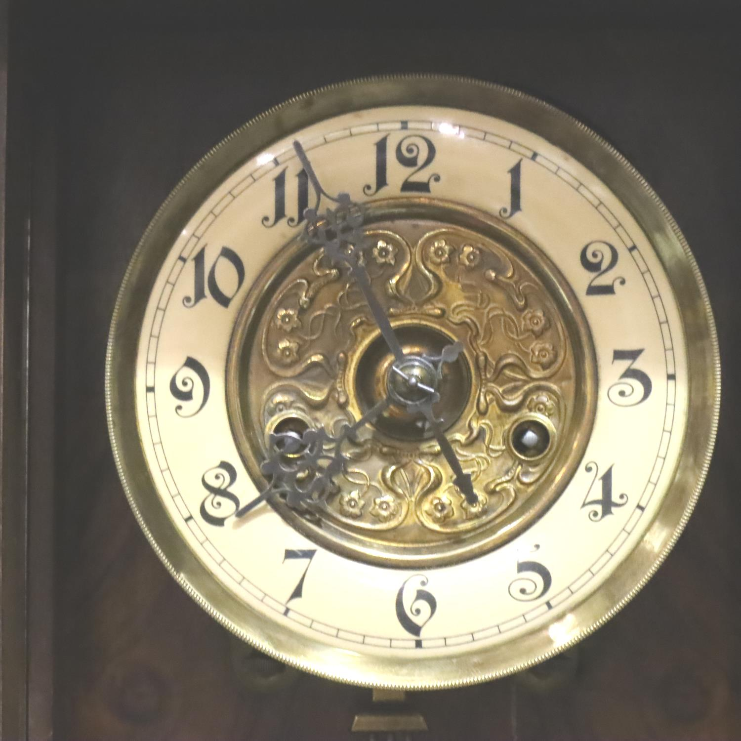 Small 19th Century walnut cased wall clock with enamelled chapter ring. Not available for in-house - Image 2 of 4