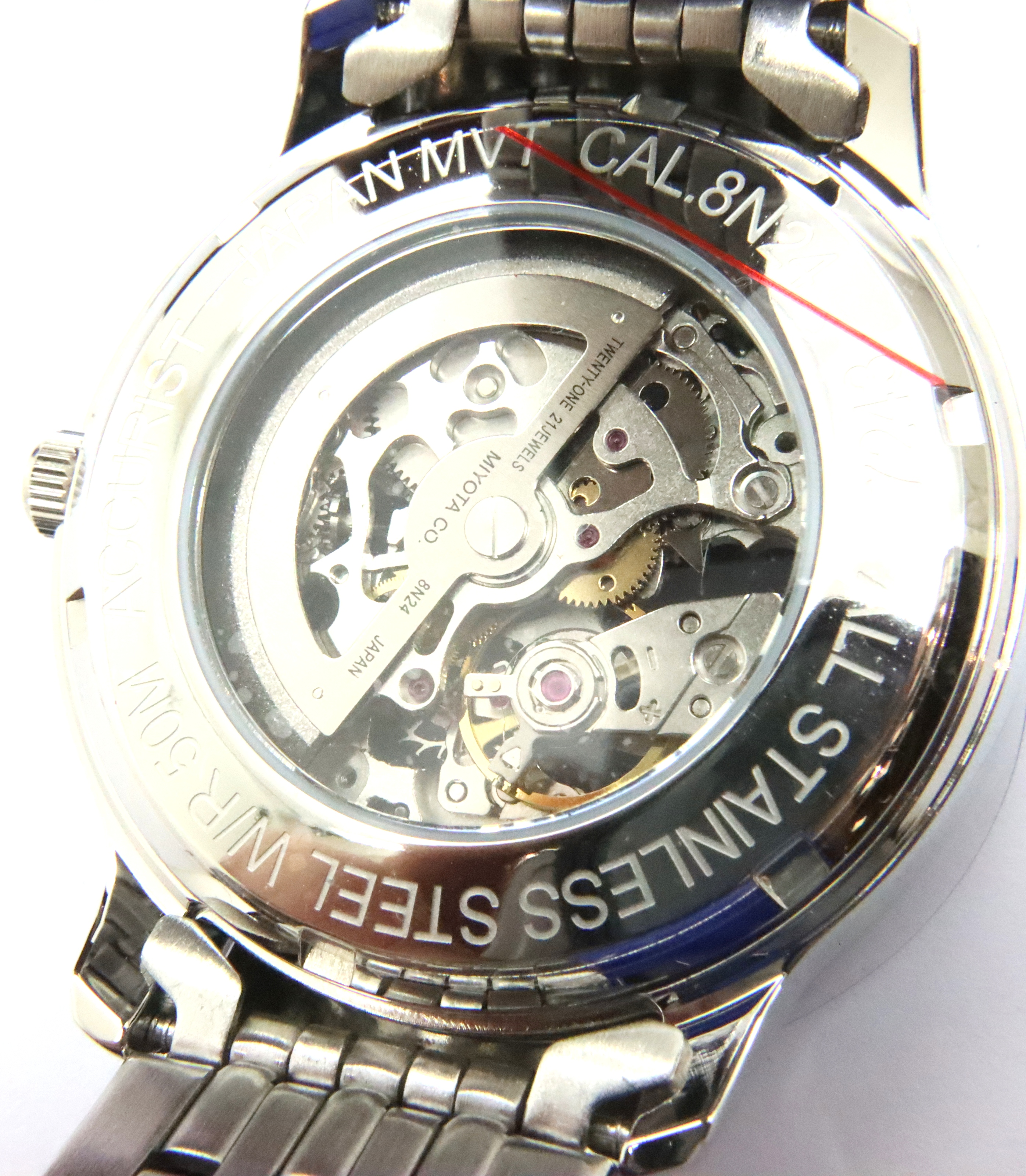Accurist; gents automatic skeleton wristwatch. working at lotting up. P&P Group 1 (£14+VAT for the - Image 4 of 4