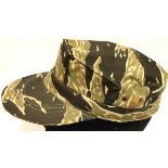Vietnam War Era In Country Made Tiger Cam ARVN 3 Pointer Cap with Parachute material lining. Un-