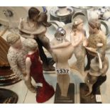 Mixed resin figurines. Not available for in-house P&P, contact Paul O'Hea at Mailboxes on 01925