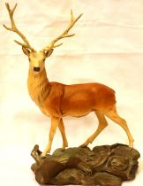 Beswick stag no 2629 on base, matte finish, H: 34 cm. P&P Group 3 (£25+VAT for the first lot and £