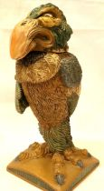 Burslem Pottery Andy Hull Grotesque Bird, The Bailiff, H: 27 cm. P&P Group 3 (£25+VAT for the