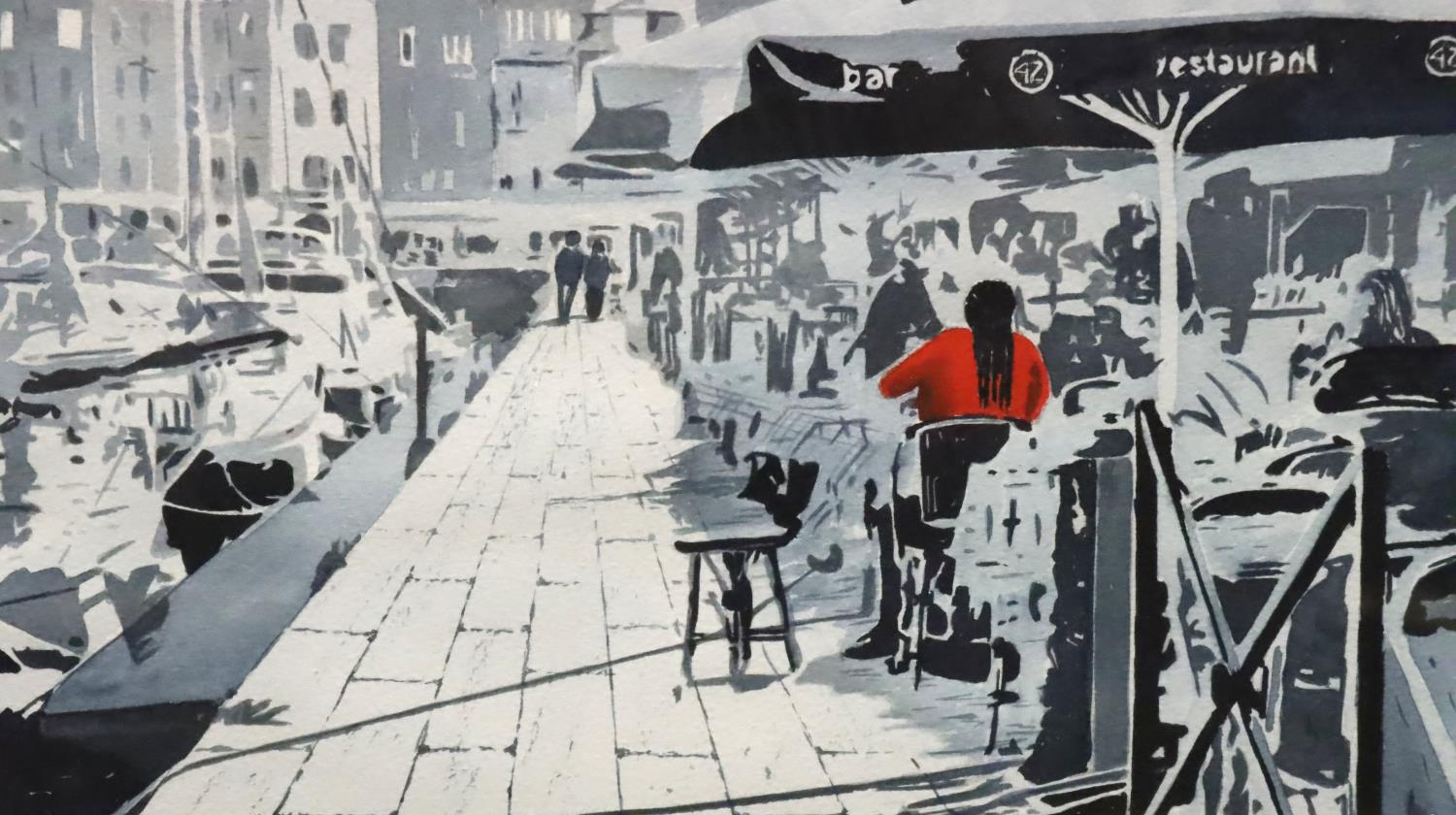 Pair of framed Dennis S. Davies with watercolours of Venice. Not available for in-house P&P, contact - Image 2 of 5