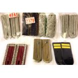 Seven pairs of East German Post-War uniform epaulettes. P&P Group 1 (£14+VAT for the first lot