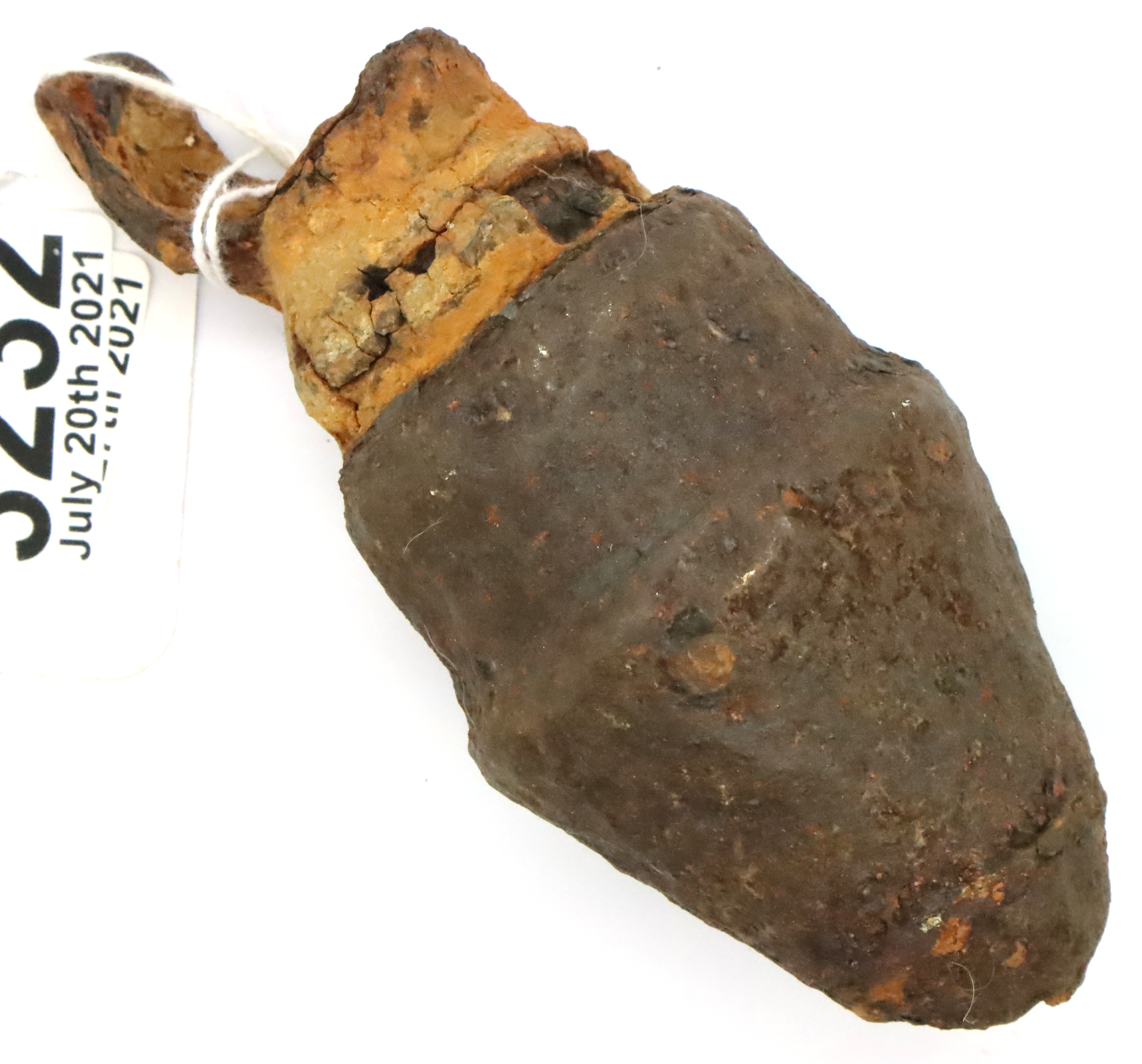 WWI relic bomb fuse, found east of Ypres. P&P Group 2 (£18+VAT for the first lot and £3+VAT for
