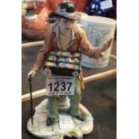Capodimonte figure of a souvenir match seller. Not available for in-house P&P, contact Paul O'Hea at