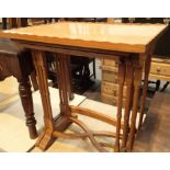 A good quality modern light oak nest of three tables. Not available for in-house P&P, contact Paul