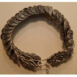 White metal scaled dragon bracelet. P&P Group 1 (£14+VAT for the first lot and £1+VAT for subsequent