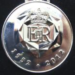 Queens Diamond Jubilee replacement medal in original box of issue. P&P Group 1 (£14+VAT for the