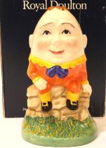 Boxed Royal Doulton limited edition Humpty Dumpty, 1256/15000, H: 13 cm. P&P Group 1 (£14+VAT for