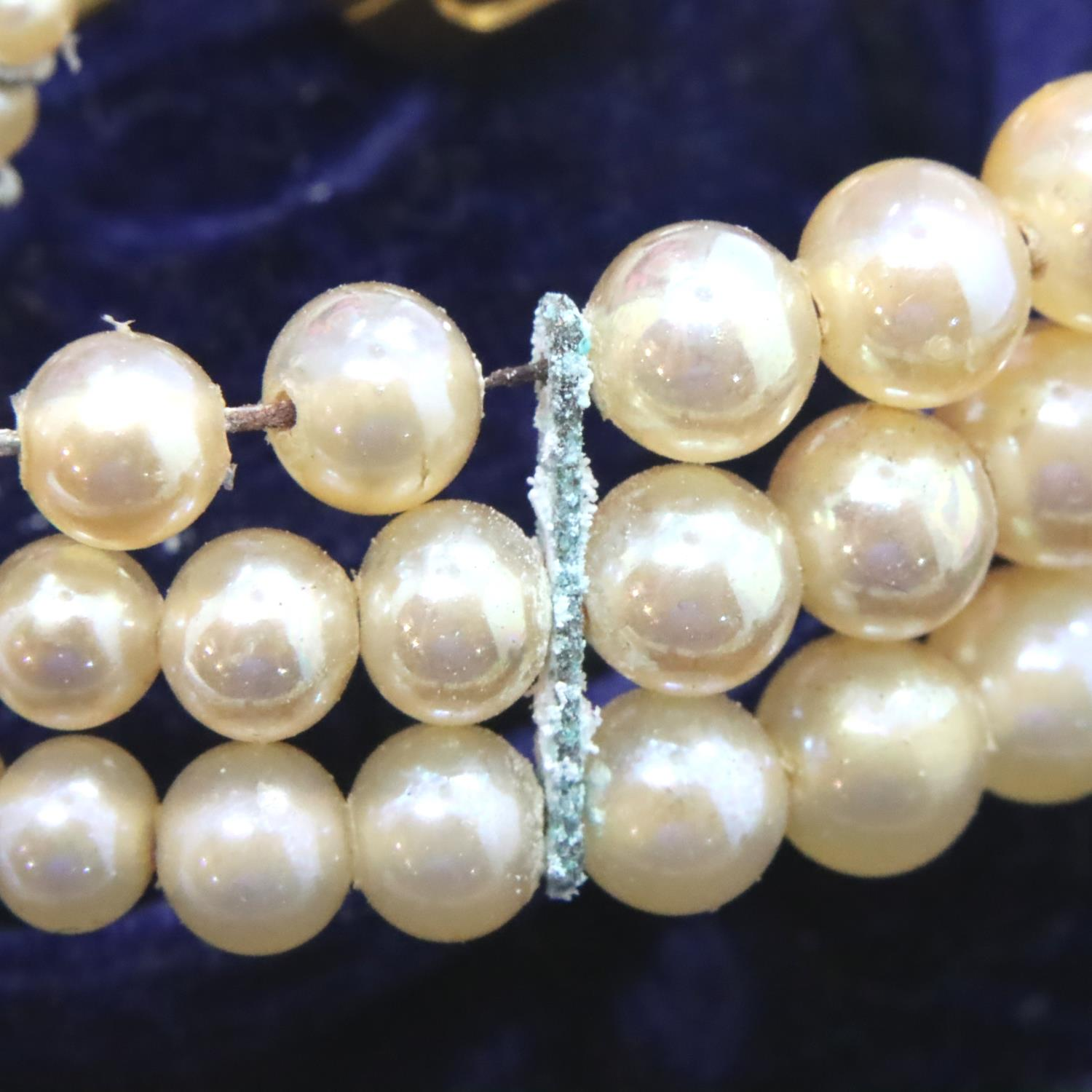 Vintage pearl necklace bracelet and ring set, boxed. P&P Group 1 (£14+VAT for the first lot and £1+ - Image 3 of 3