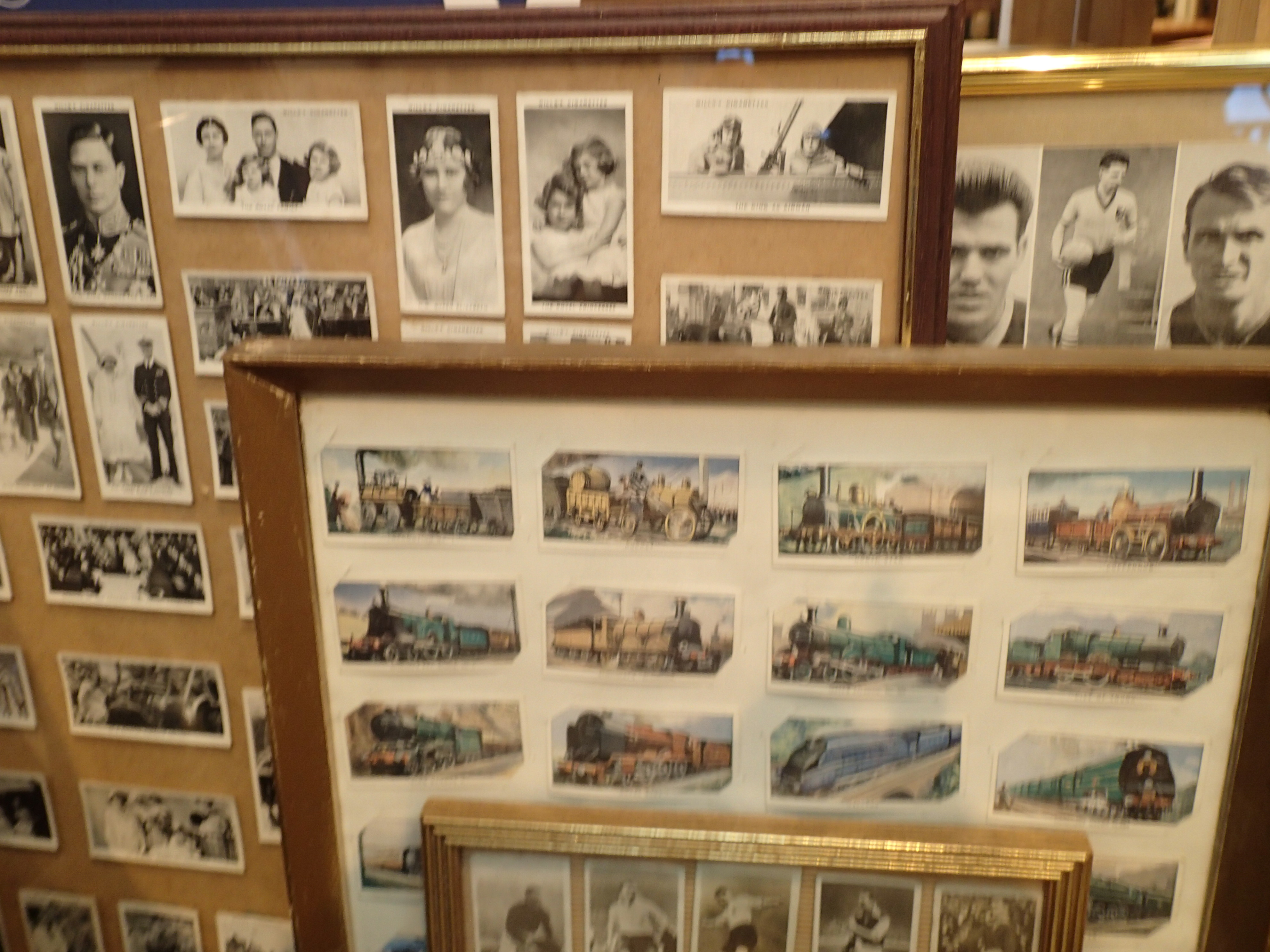 Mixed framed cigarette cards. Not available for in-house P&P, contact Paul O'Hea at Mailboxes on