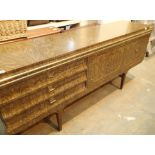 Retro sideboard with three drawers and two cupboards, in need of restoration. Not available for in-