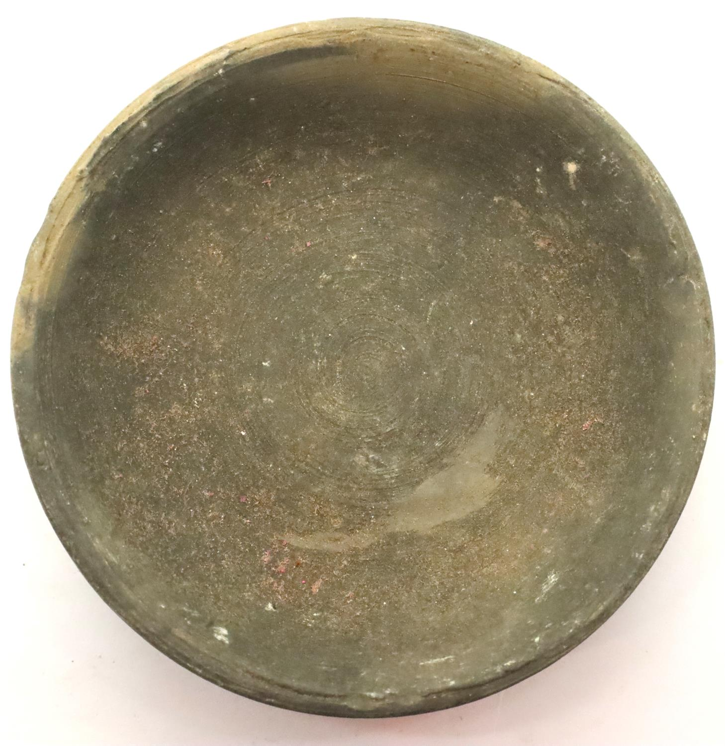 Chinese Song Dynasty blackened clay shallow bowl, D: 82 mm. P&P Group 2 (£18+VAT for the first lot