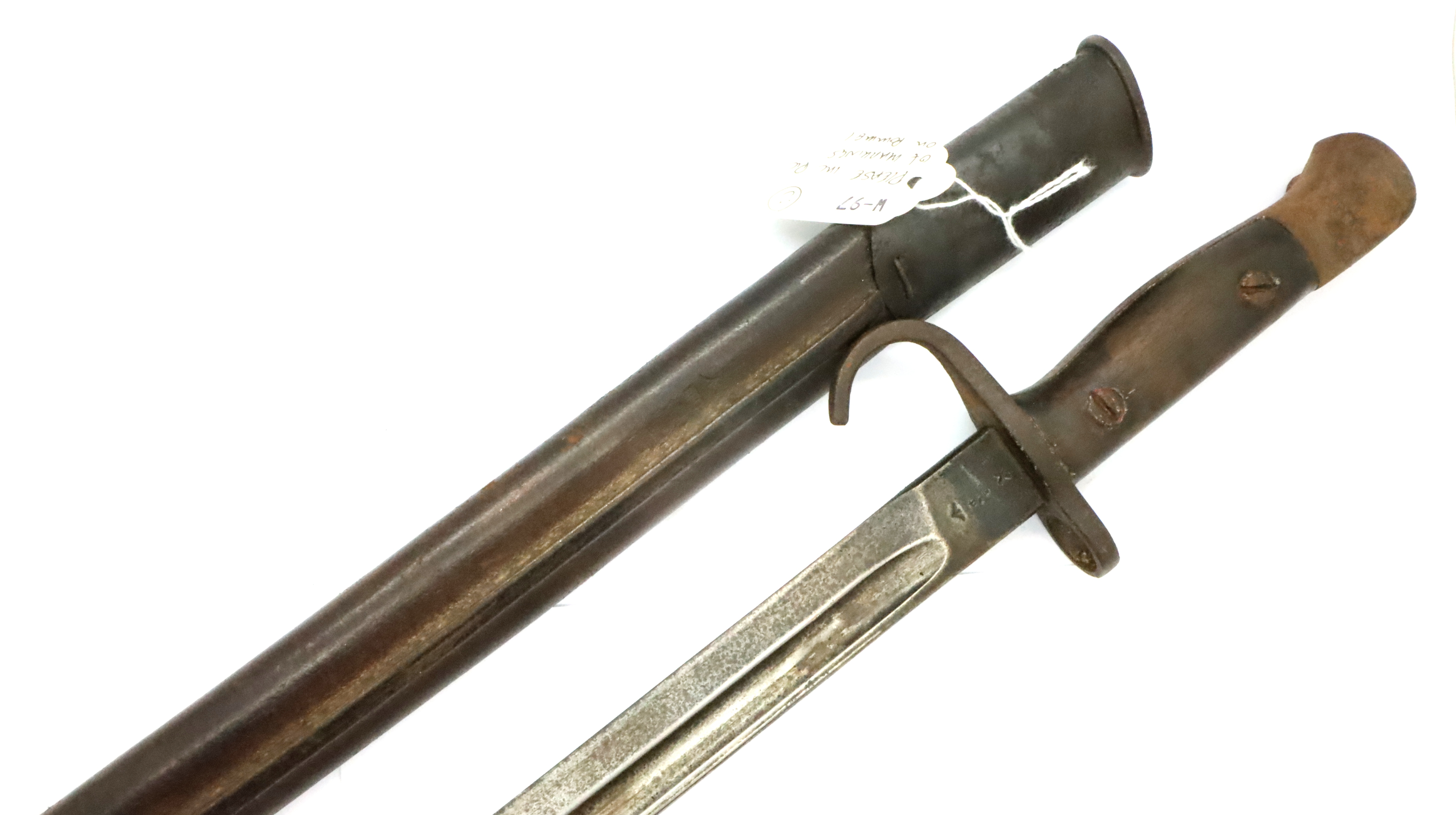 1907 Pattern Hooked Quillon Bayonet Dated 1909. Maker Sanderson. Unit marked to the 5th ( - Image 2 of 3