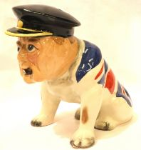 Manor Collectables Churchill British bulldog, H: 17 cm. P&P Group 1 (£14+VAT for the first lot