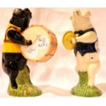 Two Beswick Pig Band figurines, H: 13 cm. P&P Group 2 (£18+VAT for the first lot and £3+VAT for