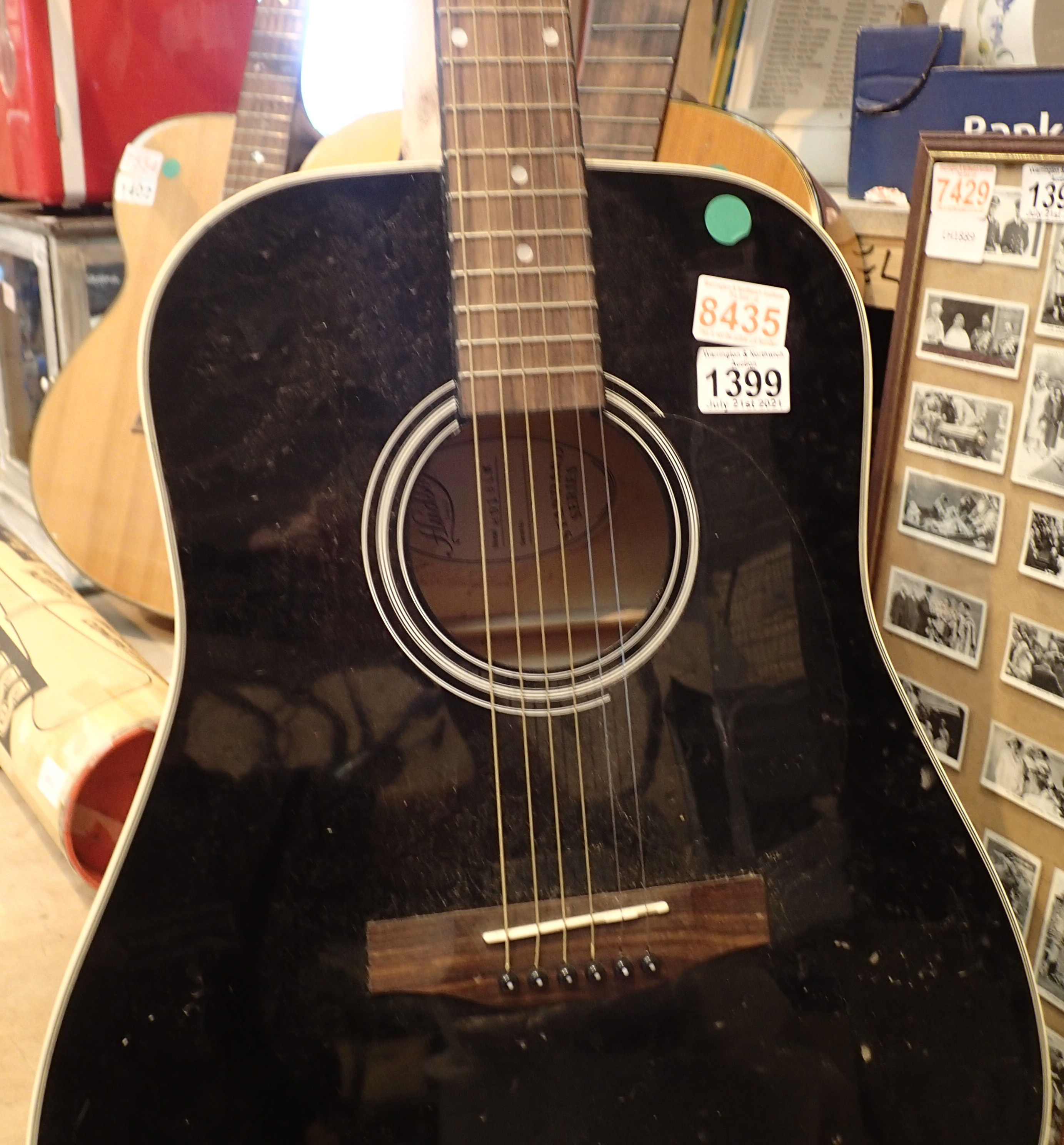 Hudson HDIBLK standard series six string acoustic guitar. Not available for in-house P&P, contact