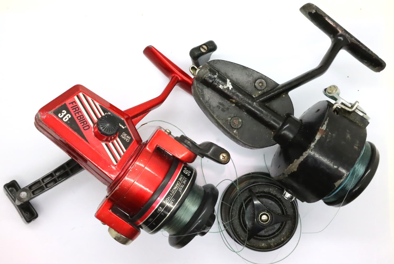 A Shakespeare Firebird 36 fishing reel and extras. P&P Group 2 (£18+VAT for the first lot and £3+VAT - Image 2 of 2