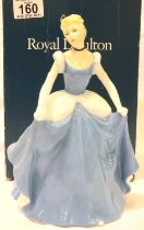 Royal Doulton limited edition Cinderella, 408/2000 with certificate, H: 20 cm. P&P Group 2 (£18+
