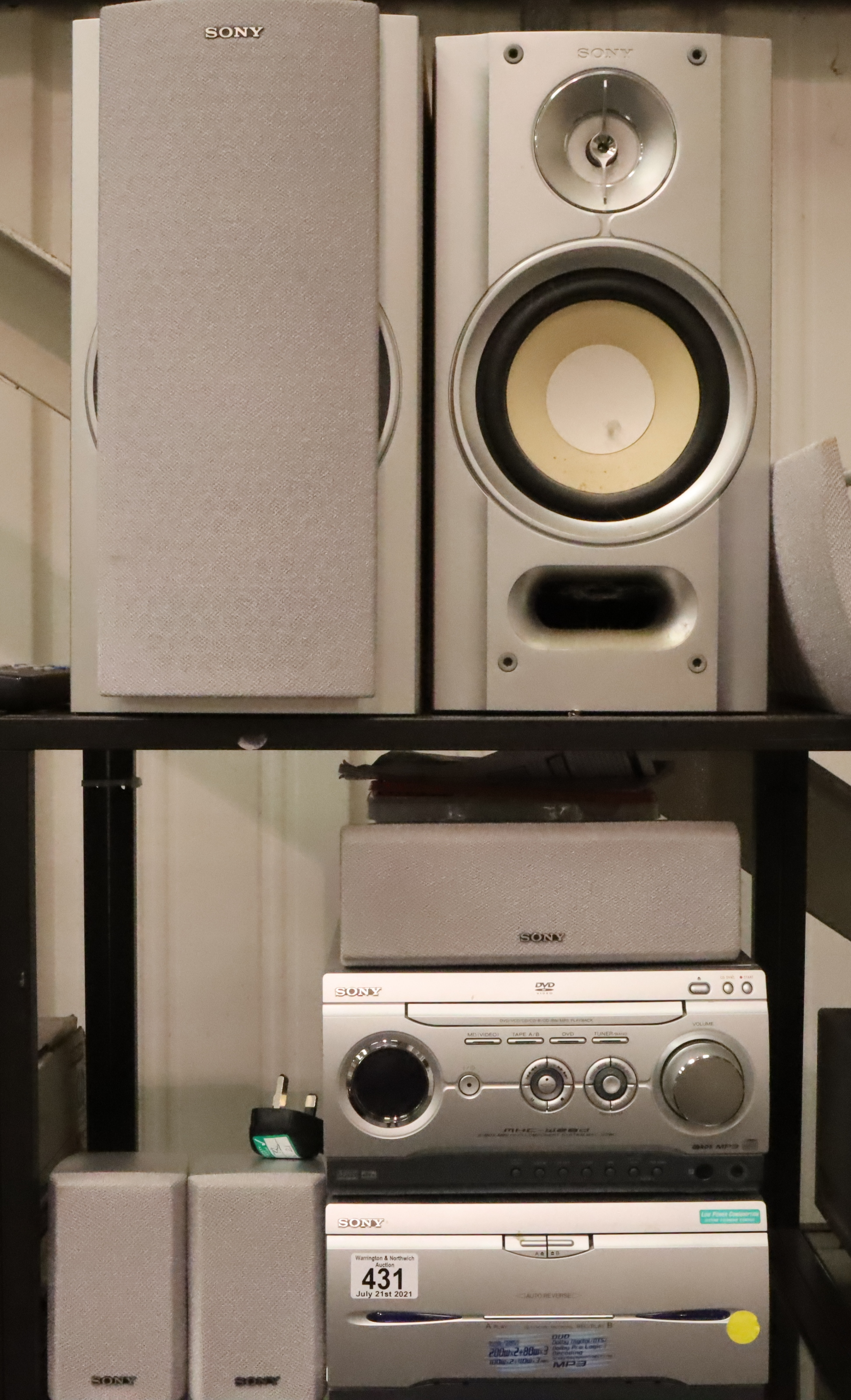 Sony Music and media full surround system. (remotes in office 489) Not available for in-house P&P,
