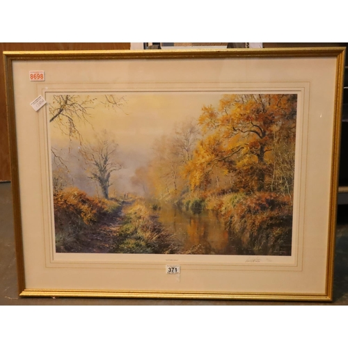 Large limited edition print Autumn Walk by Rex N Preston 28/500, 64 x 42 cm. Not available for in-