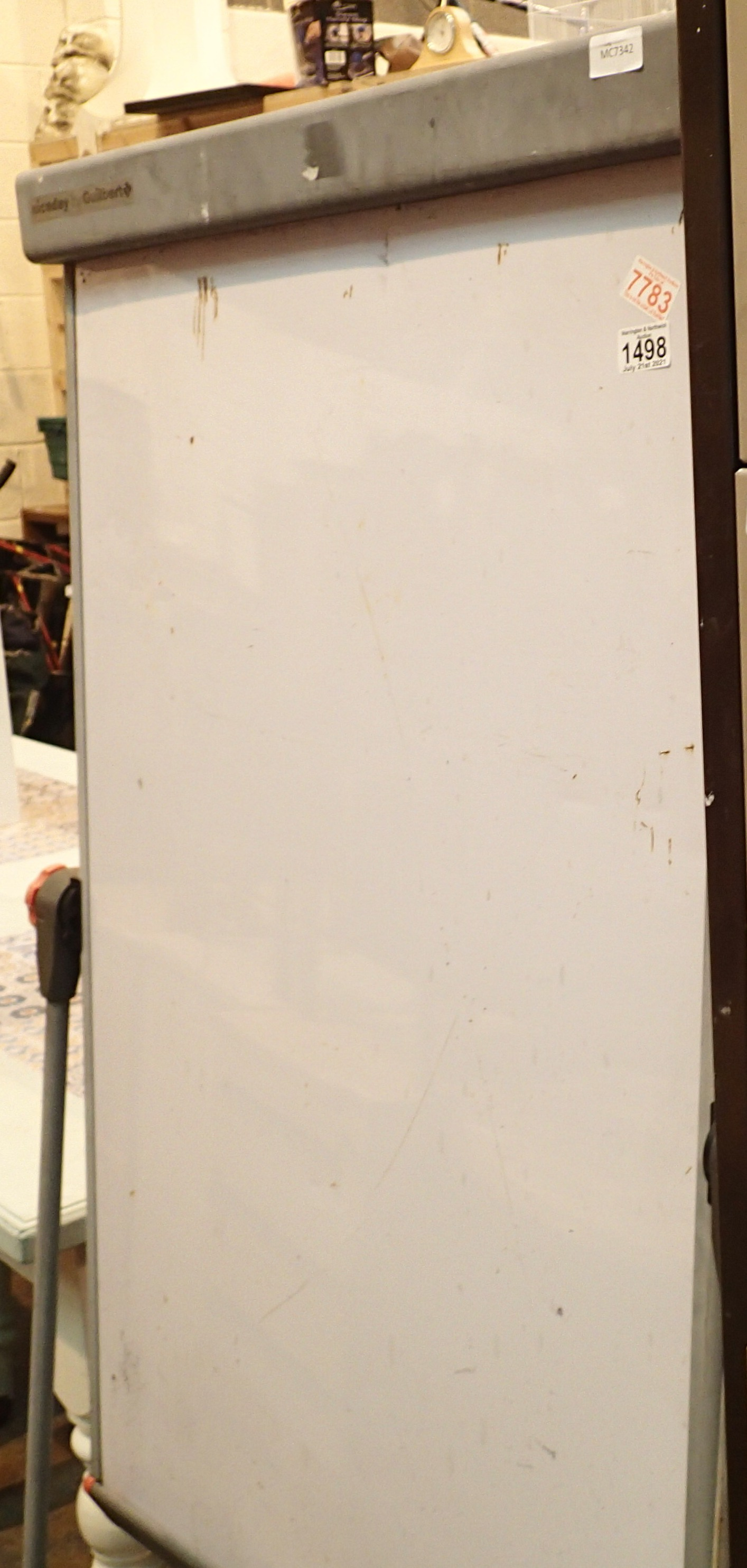 Large folding Gerbert white board 70 x 106 cm. Not available for in-house P&P, contact Paul O'Hea at