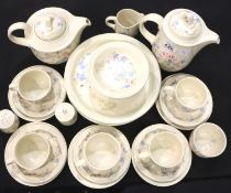 Quantity of Poole Pottery dinner and tea ware. Not available for in-house P&P, contact Paul O'Hea at