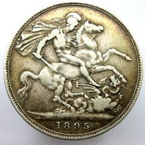 1895 crown of Queen Victoria. P&P Group 1 (£14+VAT for the first lot and £1+VAT for subsequent lots)