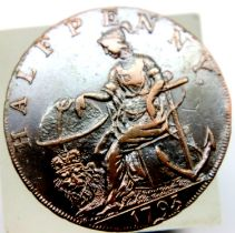 1793 Hampshire Peace and Plenty Token - Dove and Cornucopiae. P&P Group 1 (£14+VAT for the first lot