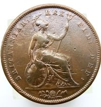 1826 early milled penny of George IV. P&P Group 1 (£14+VAT for the first lot and £1+VAT for