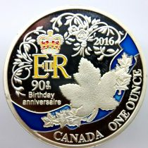 2016 Canadian 90th Anniversary Commemorative coin. P&P Group 1 (£14+VAT for the first lot and £1+VAT