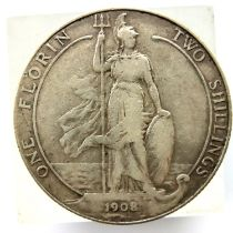1908 florin of Edward VII. P&P Group 1 (£14+VAT for the first lot and £1+VAT for subsequent lots)