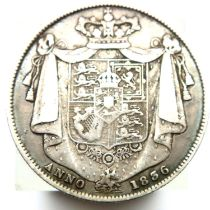 1836 half crown of William IV. P&P Group 1 (£14+VAT for the first lot and £1+VAT for subsequent