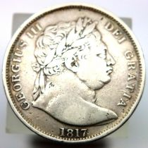 1817 crown of George III. P&P Group 1 (£14+VAT for the first lot and £1+VAT for subsequent lots)