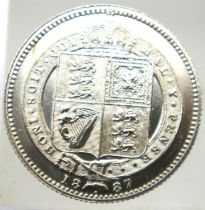 1887 shilling of Queen Victoria. P&P Group 1 (£14+VAT for the first lot and £1+VAT for subsequent